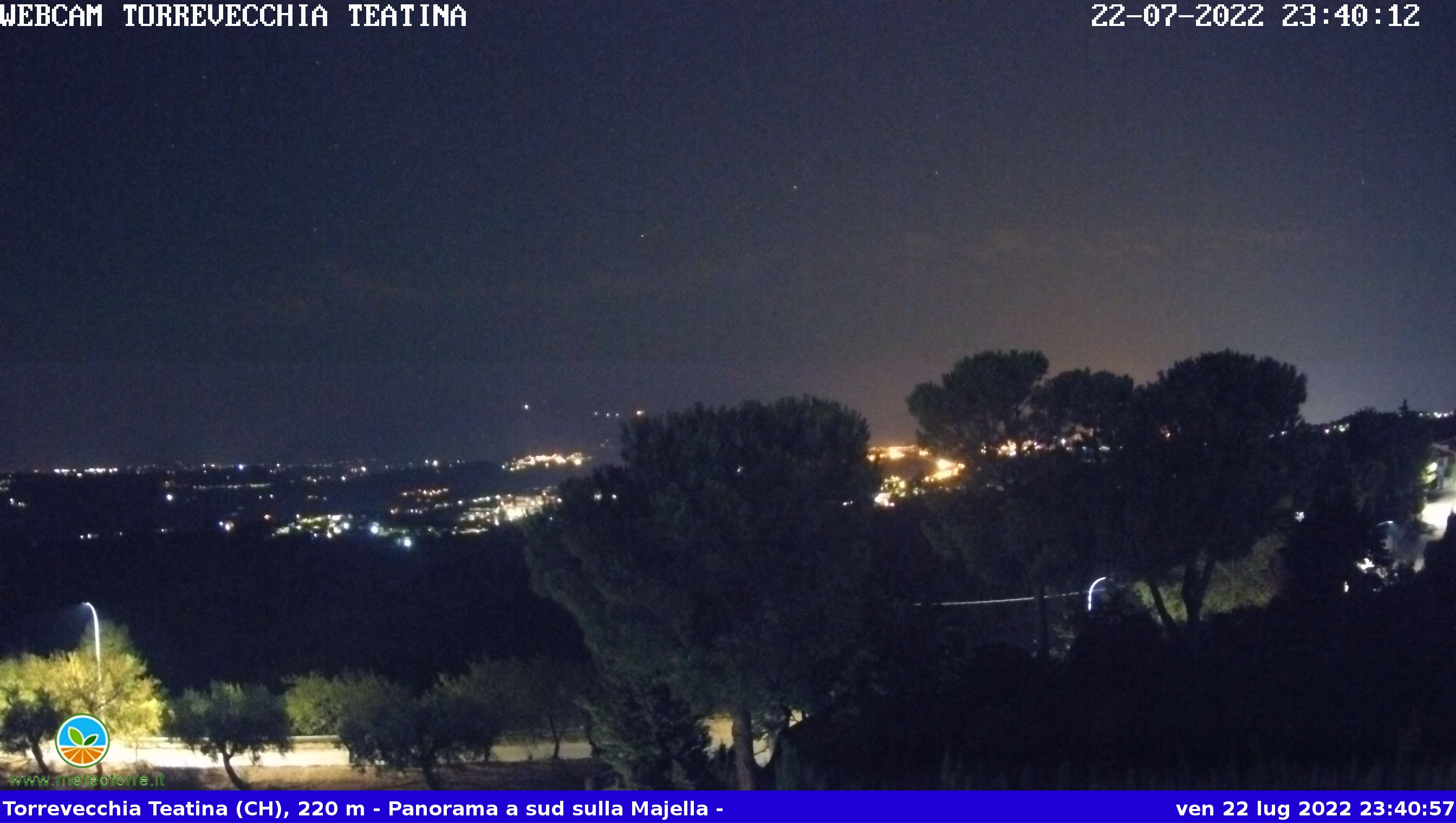 webcam sulla Majella dal comune di Torrevecchia Teatina (CH) - Abruzzo Italy